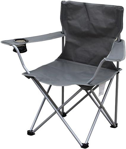 portable Chaises Pliantes Exterieures,Lumière Compact Chaises De Camping avec Accoudoir Pliable Chaise De Plage Pliante pour Jardin De Pêche Randonnée