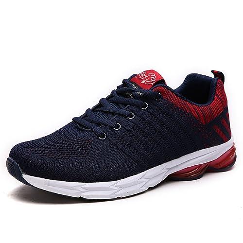 392da0699 NEOKER Zapatillas Running para Hombre Aire Libre y Deporte Transpirables  Casual Zapatos Gimnasio Correr Sneakers Verde