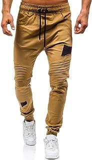 08c41701b1c Naladoo Men s Sweatpants Drawstring Joggers Pants Fold Pockets Sport  Trousers