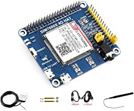 waveshare 4G / 3G / GNSS HAT for Raspberry Pi Zero/Zero W/Zero WH/2B/3B/3B+ Based on SIM7600A-H Supports Dial-up, Telephone Call, SMS, MMS, Mail, TCP, UDP, DTMF, HTTP, FTP