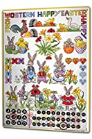 カレンダー Perpetual Calendar Fun Lindner Easter bunnies Tin Metal Magnetic