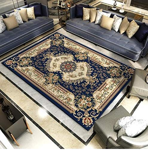 HPPSLT polypropyleneAreaRugsForLivingRoomBedroom-Fashionable kaleidoscope art printing non-slip short pile decorative carpet for bedroom-80x160CM