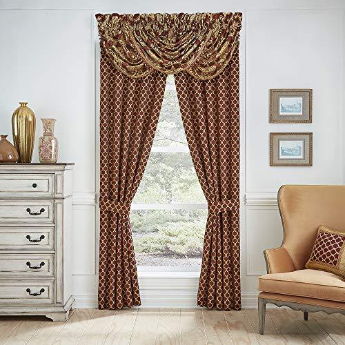 Croscill Gianna Curtain Panel Pair, Red