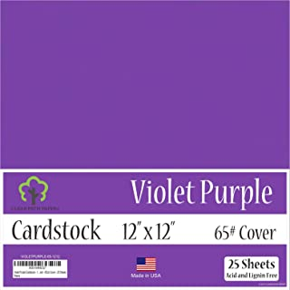 Violet Purple Cardstock - 12 x 12 inch - 65Lb Cover - 25 Sheets