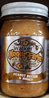 Walker Honey Farm Peanut Butter & Honey 16 Oz (Pack of 2)