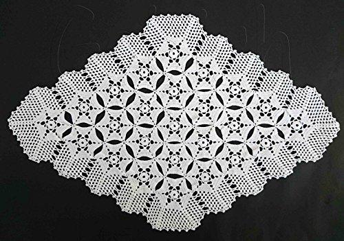 Handmade Crochet White Color Doily Home Decor Lace