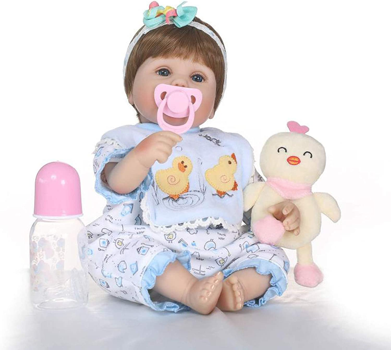 Terabithia 16 inch Cute Reborn Baby Girl Dolls with Accessories Travel Cot