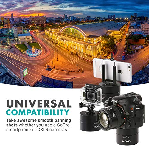 Movo MTP2000 360°/ 120-Minute Panoramic Time Lapse Tripod Head for DSLR's, GoPro's, and Smartphones