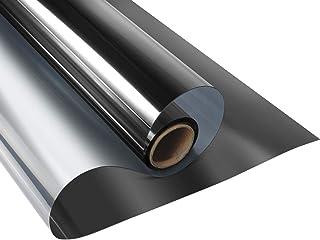 LEMON CLOUD Vinilo Película Adhesiva Lámina de Espejo para Ventanas Cristal Unidireccional Protector de Privacidad Anti 99% UV y Anti 85% IR para Hogar y Oficina (Negro,90 x 200cm)