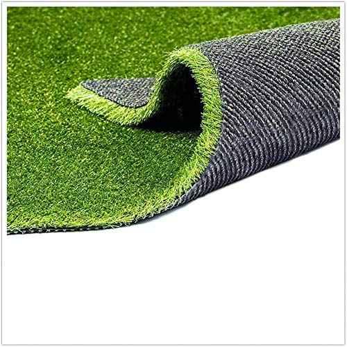 Fas Home Artificial Grass Turf 3.3'X5', 0.8' Pile Height Realistic Synthetic Grass, Drainage Holes Indoor Outdoor Faux Grass Astro Rug Carpet for Pet Dog Garden Backyard Balcony