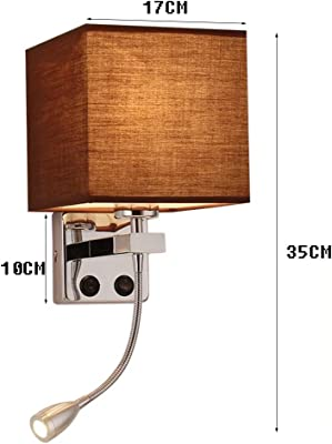 Modern Simple Living Room Creative Bedroom Bedside Lamp Hotel Aisle Wall Lamp with Switch
