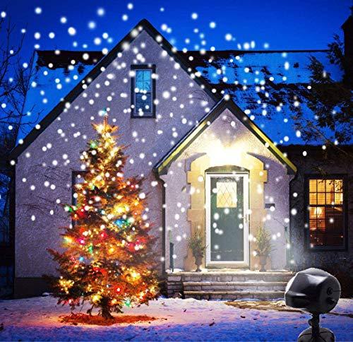 ANKOUJA Weihnachtsdeko LED Projektor Weihnachtsbeleuchtung Außen Weihnachtsprojektor Projektorlampe Schneefall-Lichteffekt Timer mit Fernbedienung IP65 für Weihnachten…
