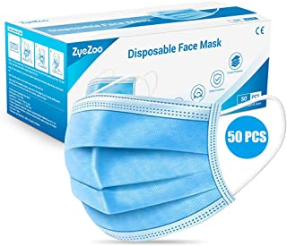 Disposable Medical Face Mask 3 Layers Filter Breathable Safety Mask with Elastic Earloop, for Family and Personal Health (50pcs)