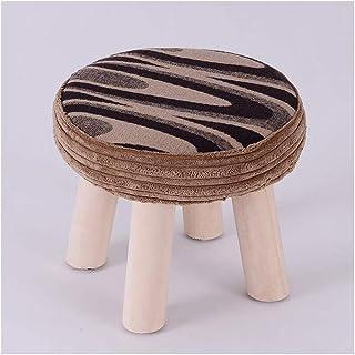 أدوات منزلية البراز Wooden Footstool Brown Desert Pattern Home Solid Wood Stool Fashion Change Shoes Stool كرسي/البراز