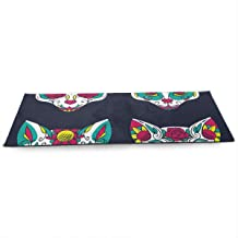 SZxiaoyang Thick 10mm Yoga Mat(7124in) , Travel Yoga Mats Day Dead Colorful Sugar Cat Skull