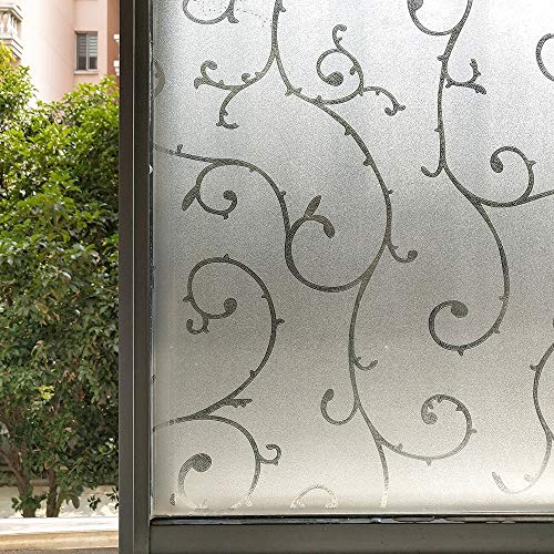LMKJ Adhesivo estático película Decorativa para Ventana glaseado Protector Solar Etiqueta de Vidrio htv Vinilo Aislamiento térmico película para Ventana privacidad película Decorativa A172 50x100cm