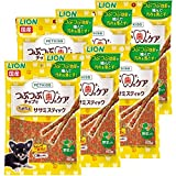 ライオン (LION) ペットキッス (PETKISS) 犬用おやつ つぶつぶチップで歯のケア ちぎれるササミスティック 野菜入り 6個 (まとめ買い)
