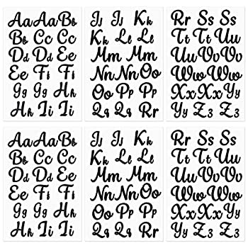 6 Sheet Iron-on Letters Upper and Lower Iron-on Alphabet Letters Soft Flock Iron-on Letters Flocking Alphabet Heat Transfer Vinyl Letters for T-Shirts Clothes Bags Hats DIY Projects Decor  Black
