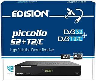 Edision PICCOLLO S2+T2/C Combo Receiver H.265/HEVC (DVB-S2, DVB-T2, DVB-C,) CI Full HD USB zwart