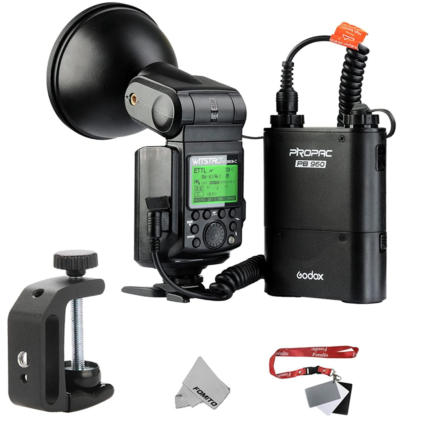 Godox AD360II Witstro Bare Bulb Flash Unit Speedlight HSS E-TTTL GN80 360Ws Built-in 2.4GHz Radio Transceiver for Canon EOS 5DIII 5D 750D 7D DSLR Cameras + 4500mAh PB960 Lithium Battery Pack Black
