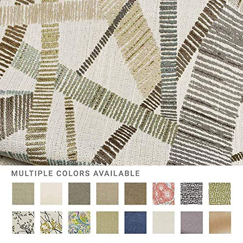 eLuxurySupply Fabric by The Yard - 100% Polyester Upholstery Sewing Fabrics with LiveSmart Technology - Fine Line Industrial Pattern