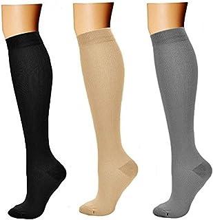 comprar comparacion feifanshop 3 Par Medias de Compresión Calcetines de Compresión para Hombres y Mujeres Varices Running Recuperación Muscula...