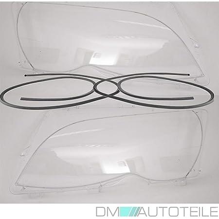 Dm Autoteile Facelift Scheinwerfer Glas Set Dichtung Passt Für 3er E46 Limousine Touring Auto