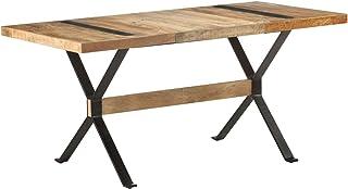 Tidyard Table de Salle à Manger Rectangulaire, Table de Repas Meuble à Manger, Table Console Extensible 160x80x76 cm Bois ...