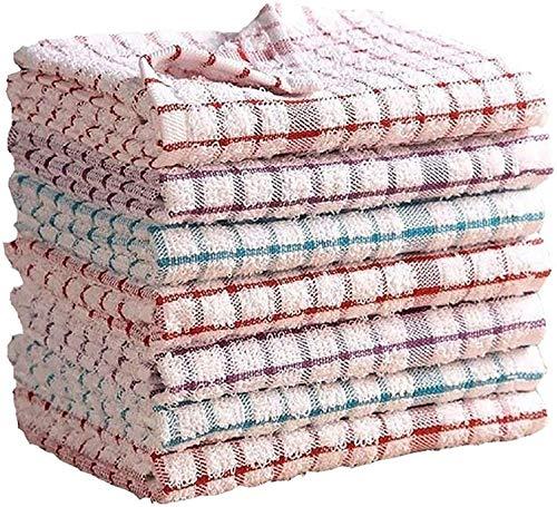 Zefer Blatt Juego de 12 toallas de cocina – 100% algodón, súper suaves y absorbentes | paños esenciales para platos y toallas de bar (37 x 60 cm)