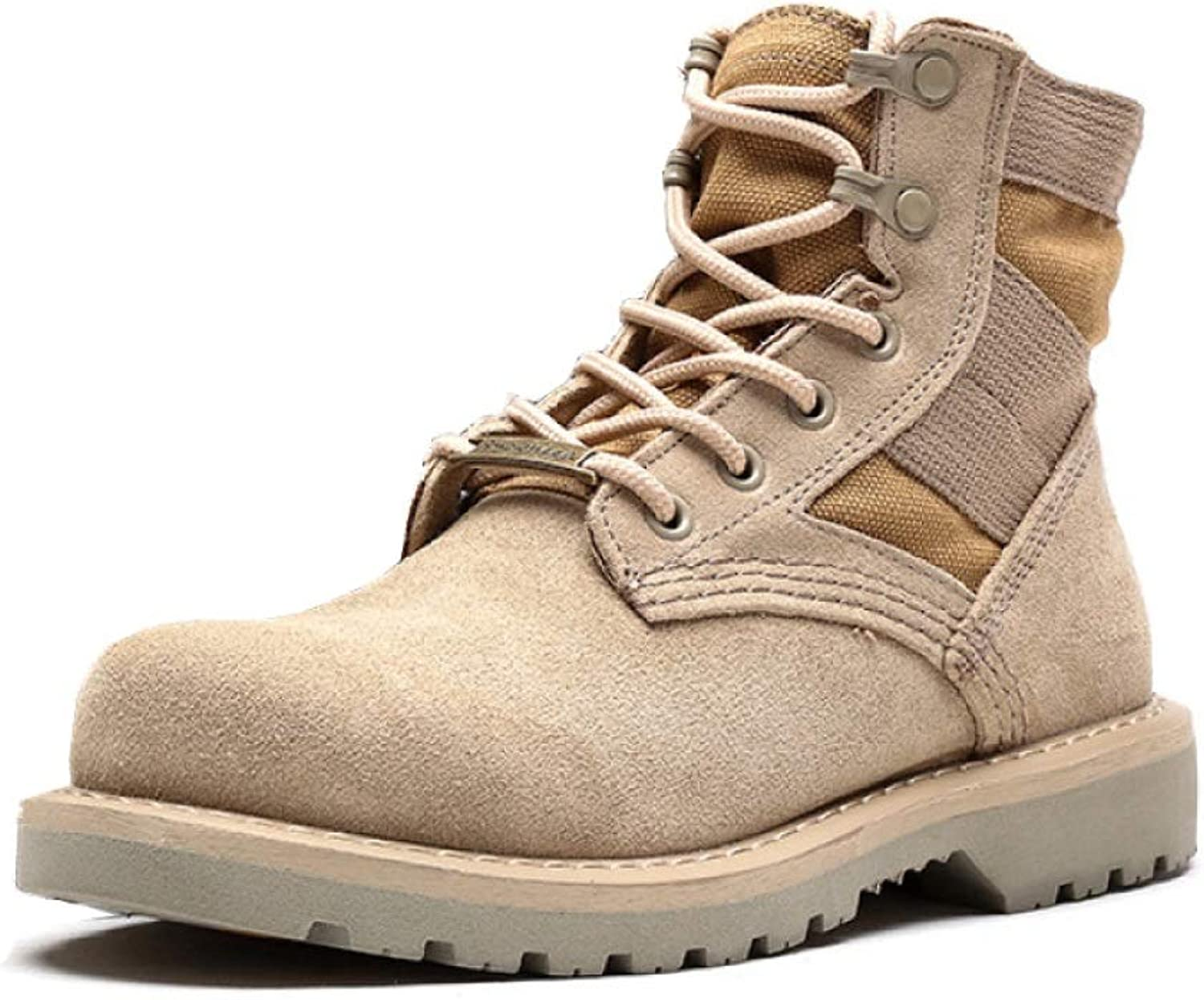 WWJDXZ Men's Retro Boots Ankle Boots Genuine Leather Desert Lace Up Martin Boots Casual Work shoes Four Seasons
