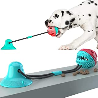 SHEROX Dog Chew Toy for Aggressive Chewers, Dog Puzzle Treat Food Dispensing Ball Toys, Dog Molar Ball, Rope Tug Toy with ...