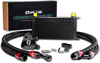 19 Row GM Engine Oil Cooler + Sandwich Plate Fit For LS1 LS2 LS3 Oil Cooler Kit Black