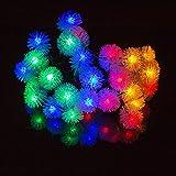 H&D Youngsun 30er LED Solar Lichterkette Lampions Laterne 6,35 Meter Außen Innen Outdoor Garten Warmweiß Party Fest Deko Weihnachten Hochzeit Beleuchtung Warmweiß