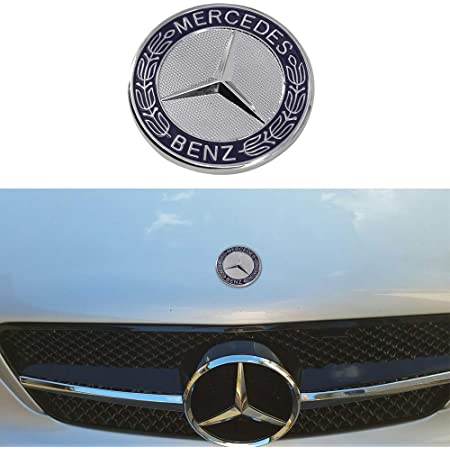 A B C S G ML CLA Series etc Car Styling Vehicle Logo Emblem Badge Car Accessories Decoration GREATCO Pack of 1 BLACK HOOD ORNAMENT 57mm For AMG BENZ