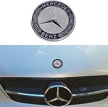 Cardiytools Metal Flat Hood Star Emblem Badge for Mercedes Benz C E SL Class Ornament logo (Blue)