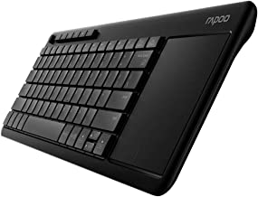Rapoo K2600 Wireless TV Keyboard with Touchpad, Easy Media Control and Built-in Big Size Touchpad