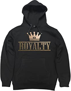 ef221895f97 FTD Apparel Men's Royalty Crown Retro 4 Metallic Gold Pullover Hooded  Sweater