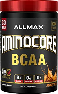 AMINOCORE BCAA – 8G BCAAs – 100% Pure Branch Chained Amino Acids – Gluten Free - Sweet Tea - 315 Gram
