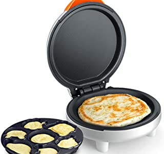 NANXCYR Tecknad elektrisk bakform pizza pannkaka maskin mini multifunktion home crepe omelette maker stekpanna maskin