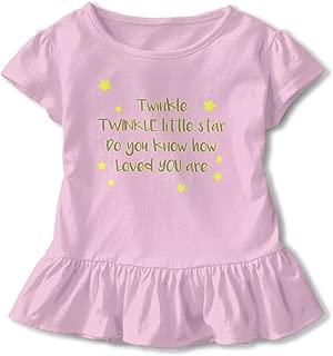 Twinkle Little Star Baby Skirts Stylish Kids T Shirt Dress Cotton Flounces Layette