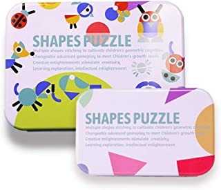 MeterMall Toys for Boys, Wooden Pattern Animals Jigsaw Puzzle Sorting and Stacking Games Educational Toys for Toddlers B car