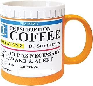 Mug The Prescription Coffee Mug, Ceramic, Funny Gift - 12 Ounce Coffee and Tea Cup
