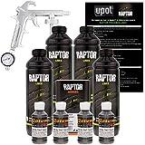 U-POL Raptor Charcoal Metallic Urethane Spray-On Truck Bed Liner Kit W/Free Spray Gun, 4 Liters