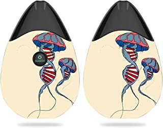 MightySkins Skin Compatible with Suorin Suorin Drop - DNA Jellyfish | Protective, Durable, and Unique Vinyl Decal wrap Cover | Easy to Apply, Remove, and Change Styles | Made in The USA