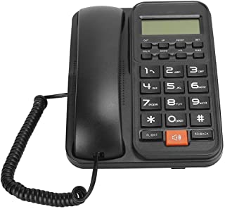 デスクトップコード付き電話、ビジネスホーム発信者IDディスプレイ有線陸線電話ウォールマウントDTMF/FSK Teleohone(#1)、電話陸線