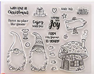Mushroom Clear Rubber Stamp Transparent Silicone Seal forScrapbooking Card Making DIY Photo Album Decoration Tools (Christmas Santa)