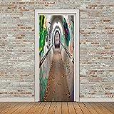 YIER LIFE™ 3D Tür Wandbild Aufkleber Folie Poster Tapete