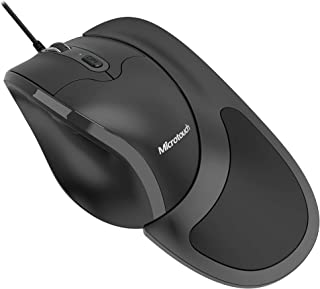 Semi-Vertical Ergonomic Mouse Newtral 3, Wired USB Medium Size, All Buttons Programmable, 1000/1500/2000/2500/3200/4800 DPI, Detachable Magnetic Palm Support Black
