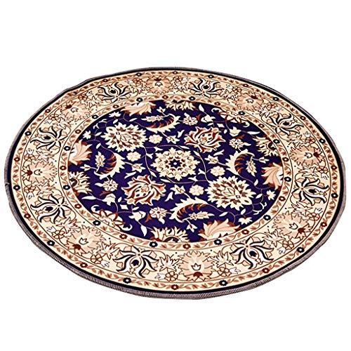 Gldb tapijt, rond, Europes, voor de hal, bureaustoel, tapijt, antislip, voor glasplaten, waterdicht, decoratief, multifunctioneel, gemakkelijk te reinigen