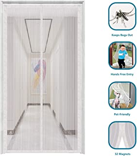 innotree 2019 Upgraded Magnetic Screen Door with 32 Magnets Heavy Duty Mesh Curtain, Fits Doors Up to 39